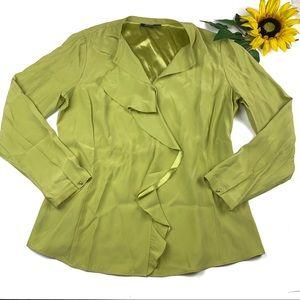 Lafayette 148 silk ruffle shirt Career Wear